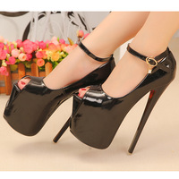 2014 women's sandals 19cm ultra high quality stiletto heels platform open toe sandals party dance shoes rivet women's pumps