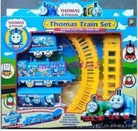 Original Thomas train track tomas electric train set Baby children's educational toys Small electric splicing rail train set