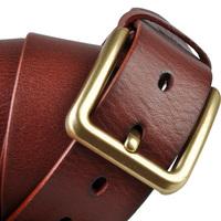 Fashionable designed mens leather belts full grain leather belt