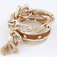 Gold Punk Pop Handmade Bracelets 2014 New Arrival Free Shipping