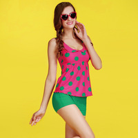Free shipping Women's Swimwear ,hot summer women swimsuit,dot tops+women shorts,high quality spa swimwear
