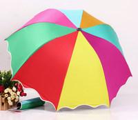 2014 free shipping fashion black coating rainbow folding rain umbrella women's girl's travel umbrella Rechar033