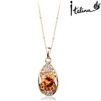 Real Italina Rigant Genuine Austria Crystal  18K gold Plated Pendant Necklace  Enviromental Anti Allergies  #RG13408