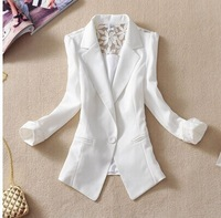 2015 Hot Selling Lady  short design slim suit blazer elegant  thin woman spring and autumn  outerwear  coat blazers