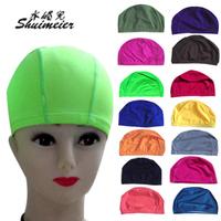 Solid color swim cap chromophous breathable cloth swimming cap adult child swimming cap general swimming cap printing