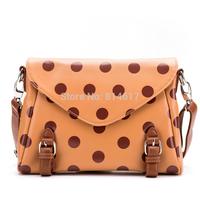 2014 women's quality  vintage style elegant polka dot envelope small cross body shoulder and messenger bag online free shipping