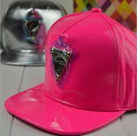wholesale Metal Triangle mark Leather snapbacks caps hip hop baseball cap snapback hats for women men 2014 new M50