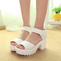 Free shipping 2014 high-heeled sandals thick heel open toe platform sandals platform sandals female shoes  Platform sandals
