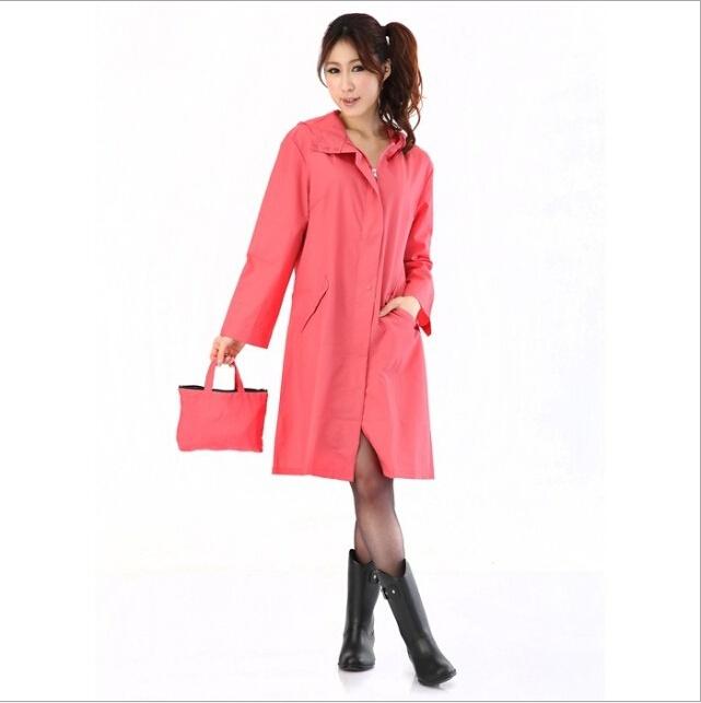 YY-07 2014 fashionable lovely 3 color coat trench coat polka dot outdoor nylon waterproof girls women raincoat poncho wholesale(China (Mainland))