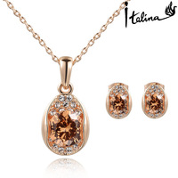 Real Italina Rigant Made with Swarovski Elements 18K gold Plated Jewelry sets for women  Anti Allergies New Sale Hotb#RG015S