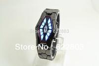 2014 new Binary Waterproof watches men women snake shape LED design unique new Unisex steel table Surprise gift watch