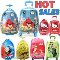 "16"" 18"" inch Children Luggage Kid Suitcase,Cartoon Child Boy Girl Princess Cat  ABS trolley case box Traveller Pull Rod Trunk"