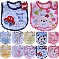 1pc/lot Animal style Hello Kitty Baby Kid Fitting Saliva towels Waterproof Infant Bibs Pinafore Baby Eat Free shipping