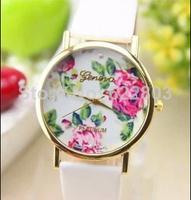 2014 New Fashion casual Leather strap GENEVA Watch For Ladies Women Dress Watch Quartz Watches