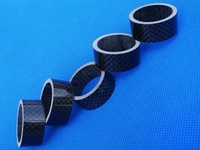 Full Carbon glossy road bike MTB headset spacer 15mm (5 pcs) 1 1/8""