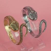 2014 New Luxury Charm Gold Snake Bracelet Women Rhinestone Watches, Ladies Dress Watch Wristwatch(Gold & Silver) Items relogio