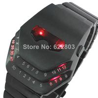 2014 Newest!! fashion Sample High quality novelty item design cobra snake head watch led digital men full steel sports watches