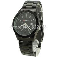 Free Shipping! CURREN Newest Wholesale Sports Water Resistant Quartz Hours Date Hand Luxury Clock Men full Steel Wrist Watch
