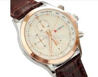 Waterproof Watches Men Luxury brand Curren 8097 Design Men Sports Watches Quartz Military Leather Strap Watches Fashion Casual