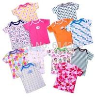Free shipping 5 pcs/lot 2014cate Carter summer new cotton t-shirt Infant Boy T-shirt