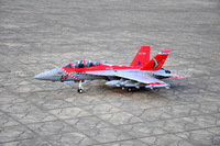 RTF Red  Version / RC F-18 Hornet jet plane / Folding wing / With metal landing gear /  Ready To Fly