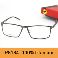 Brand New 2014 Original Spetacle Frame P8184 Fashion Pure Titanium Full Frame Filling Prescription Vintage Eyewear Free Shipping