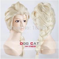 "28"" Long hair elsa wig princess anna heat resistant cosplay Animation Human Kanekalon Fiber Hair full queen Wigs"