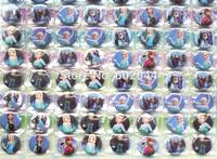 2014 New Arrival Hot Sale 2 Sheets 216 Pcs Frozen Cartoon pins badges 2.5cm Round Brooch Badge Kids Toy Kids Party Favor