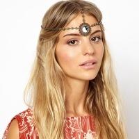 New 2014 Fashion Boho Round Wreath Crystal Rhinestone headband head chain Hair Bands wedding Hair Accessories For Women