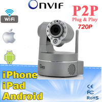 2014 New Coolcam Support Onvif Protocol NVR Wireless Wifi HD 720P IP Camera With 32G SD/TF card Pan & Tilt  IP/Network IP Camera