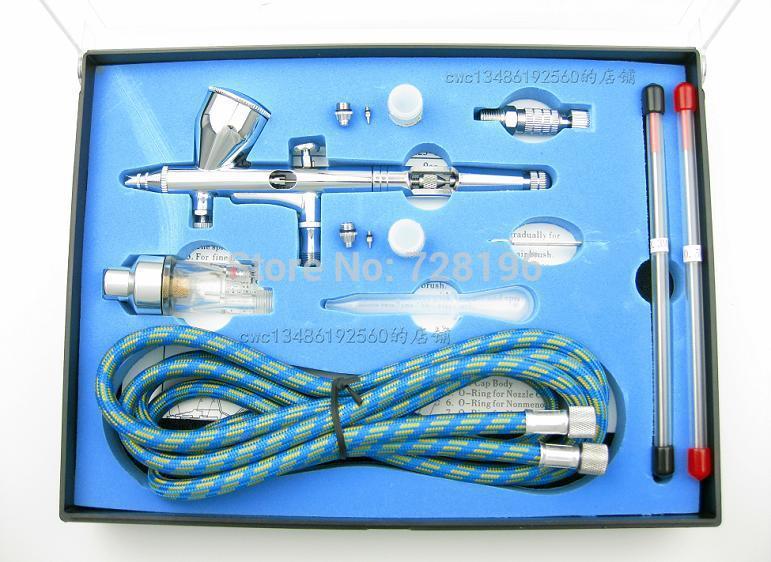 High Quality Pneumatic dual action airbrush air brush kit pneumatic Painting Spray Gun Tool(China (Mainland))