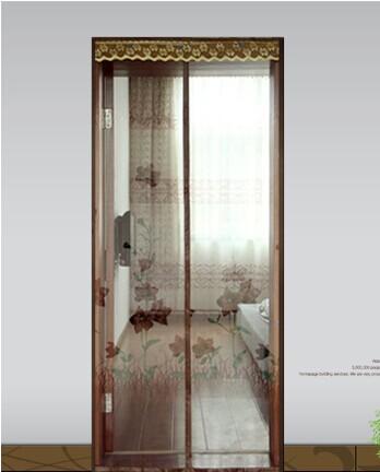 Tarja magnética criptografia cortina da janela tela mosquiteiro macio porta de tela magnética porta de tela ostinatos fusiformes(China (Mainland))