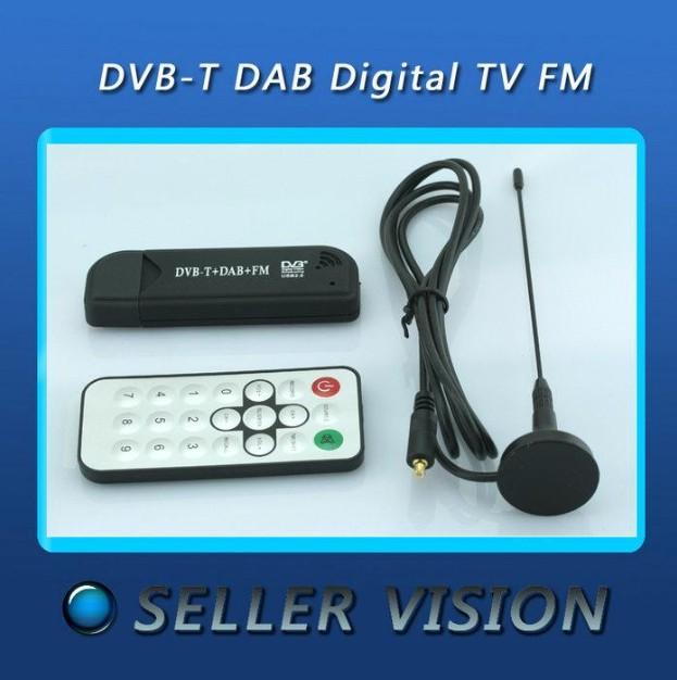 2014 New Radio Broadcasting Equipment/Cheap FM+DAB USB DVB-T RTL2832U+R820T w/ MCX antenna Hotsale!(China (Mainland))