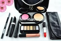 Brand Professional eyes lips face  brushes eye shadow Makeup palette Travel Case Kit  Cosmetics tool Gift Set 11 Pcs  promotion