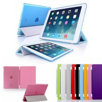 For ipad Smart Cover magnetic Front Case + Back Case Protective stand leather case skin For Apple ipad 2 3 4 5 air mini