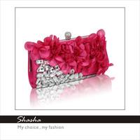 Famous women's wallets flowers girl evening bag Designer Women fashion small day clutch shopping evening luxury purse