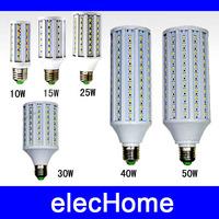 3pcs/lot Wholesale 5630 5730SMD E27 LED 10w 15w 25w 30w 40w 50w LED Corn Bulb Lamp Light  leds AC 220V 230V 240V LED Bulbs Lamps