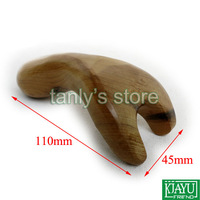 "Gift gua sha chart & bag! Wholesale scented wood ""Y"" shape massage guasha kit Scrapping plate (110x45mm) 2pcs/lot"