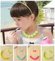 free shipping summer popular South Korean children candy color beads necklace bracelet set  wholesale&retail