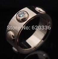rose color titanium crystal Lu ring
