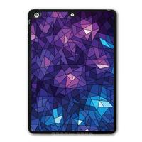 Geometric Purple Ice Cube Protective Black TPU Shell Cover Case For iPad 5 Air/iPad Mini/iPad 2 3 4(Free Shipping) P03