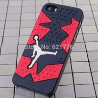 Basketball star 3D Jordan sneakers Sole PVC Rubber Cover For iPhone 5 5s Hot Sale Jumpman 23 Phone Case For apple 5 Capa Celular