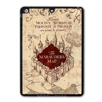 Harry Potter Marauders Map Protective Black Hard Cover Case For iPad 5 Air/iPad Mini/iPad 2 3 4(Free Shipping)  P67