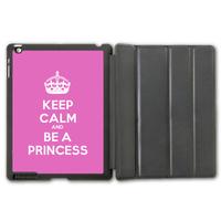 Keep Calm And Be A Princess Protective Smart Cover Leather Case For iPad 2 3 4/iPad 5 Air/iPad Mini  P78