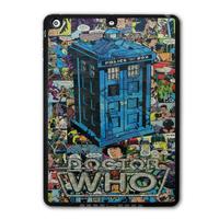 Retro Doctor Who Tardis Comic Book Protective Black TPU Shell Cover Case For iPad 5 Air/iPad Mini/iPad 2 3 4 P07