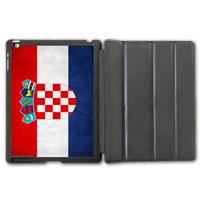 Retro Vintage Croatia Flag Protective Smart Cover Leather Case For iPad 2 3 4/iPad 5 Air/iPad Mini  P105