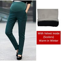 2014 Sale New Elastic High Waist Pencil Maternity Pants Winter for Pregnant Women Clothes Warm Belly Trousers / Leggings M-xxl