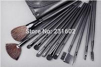 Lowest Price Free Shipping 12pcs/SET 1 SET M MC LOGO  Professional Portable Cosmetic Makeup Brush Set Kit Makeup Brush Toos Se