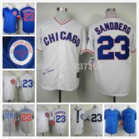 free shipping  new cheap stitched baseball jersey Chicago Cubs 23 Ryne Sandberg throwback/ cool base baseball shirt/sportswear