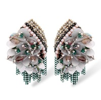 2014 new fashion jewelry accessories handmade crystal earrings exaggerated earrings free shipping wedding banquet 2014528